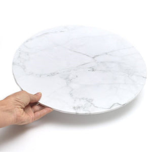 White Marble Effect Round Cake Board 35cm (14 inch)