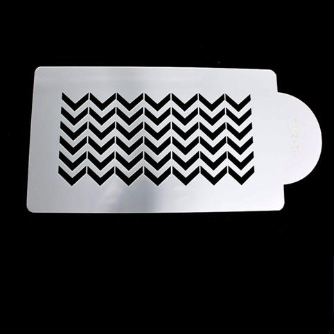 Chevron Side Stencil
