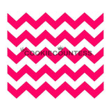 Chevron cookie stencil
