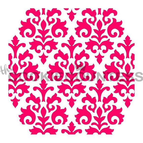 Countess Damask cookie stencil