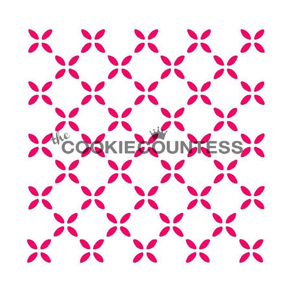 Country Flowers cookie stencil