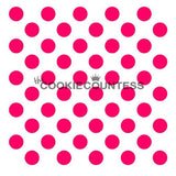 Medium Polka Dots cookie stencil