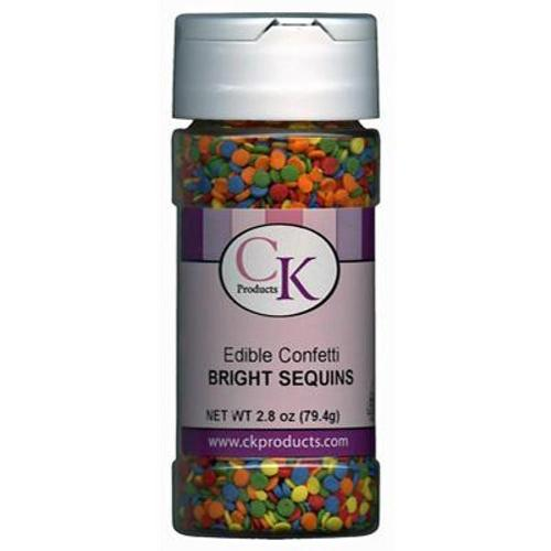 CK Edible Confetti Bright Sequins Sprinkles 73g (2.6oz)