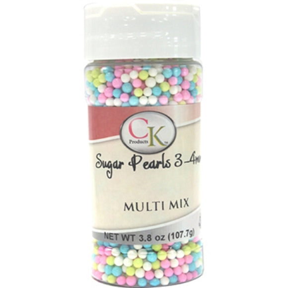 CK Pearlised Pastel Multi Mixed Sugar Pearls 107g