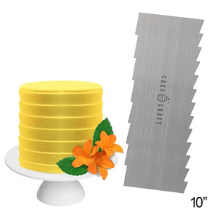 Cake Craft Buttercream Scraper Comb - Pleats