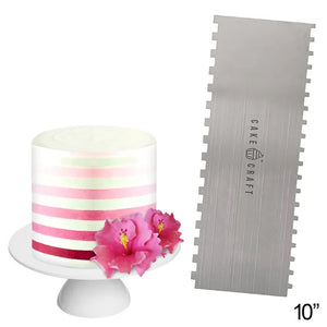 Cake Craft Buttercream Scraper Comb - Thin Stripes