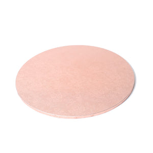 Rose Gold Round Masonite Cake Board 22cm (9 inch)