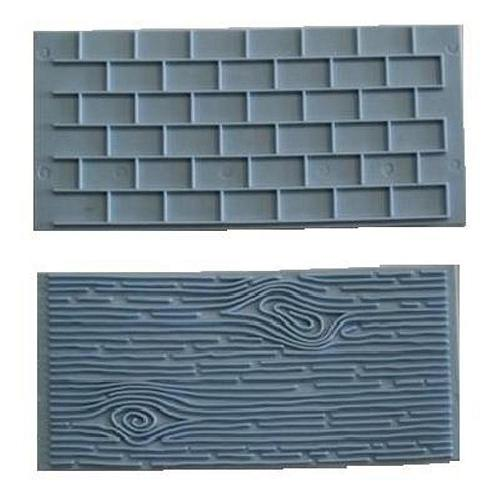 Icing Impression Mat - Brick & Woodgrain set