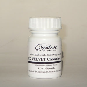 Creative Cake Decorating Oil Chocolate Colour 20g - Black Velvet