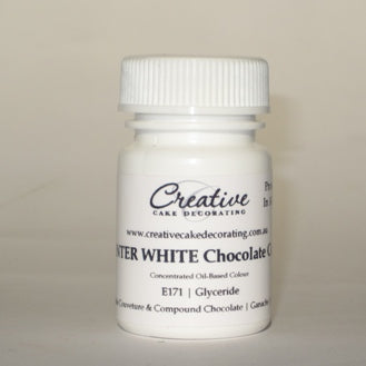 Creative Cake Decorating Oil Chocolate Colour 20g - Winter White
