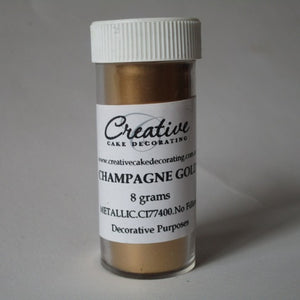 Creative Cake Decorating CHAMPAGNE GOLD Metallic Pearlescent Lustre Dust
