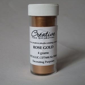 Creative Cake Decorating ROSE GOLD Metallic Pearlescent Lustre Dust