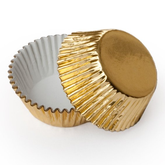 Gold Foil Cupcake Baking Cups - 25 pack