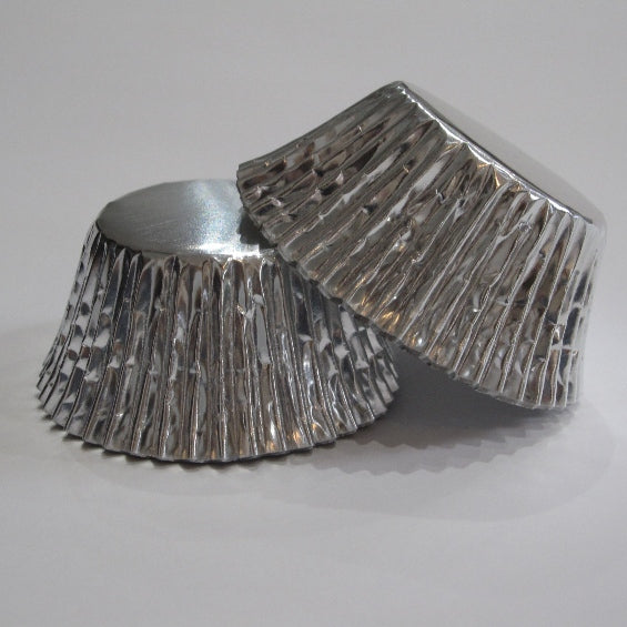 Silver Foil Cupcake Baking Cups - 25 pack