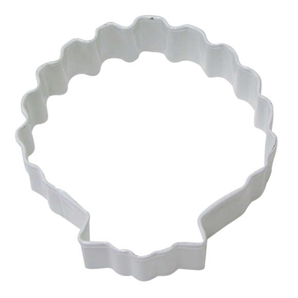 White Seashell cookie cutter 8cm