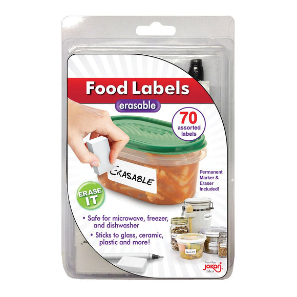 Erasable Food Labels (70 pack)