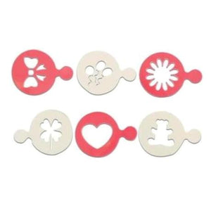 Cookie / Cupcake Assorted Design Stencils Set 6