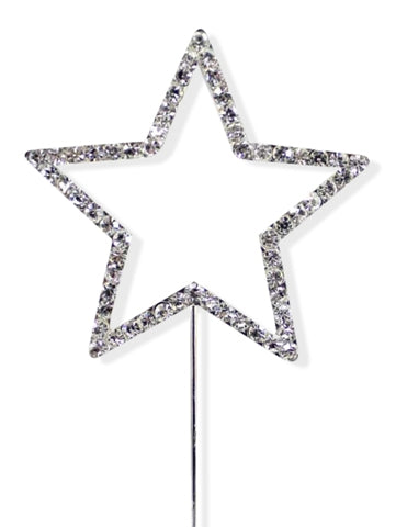 Single Star Diamante Cake Pick Topper Decoration