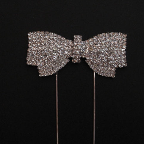 BOW Diamante Cake Pick Topper Decoration