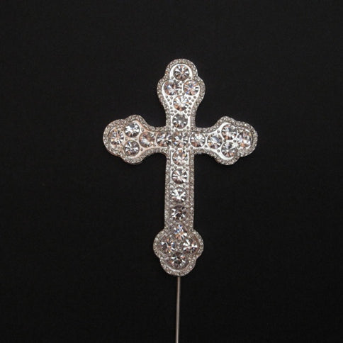 CROSS Diamante Cake Pick Topper Decoration