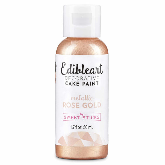 Metallic Rose Gold Edible Art Decorative Paint 50ml