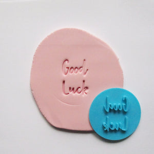 GOOD LUCK fondant embosser / cookie stamp