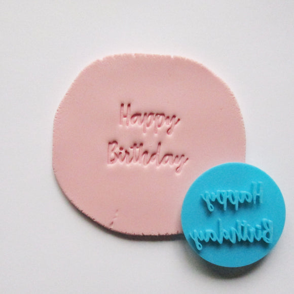 HAPPY BIRTHDAY fondant embosser / cookie stamp