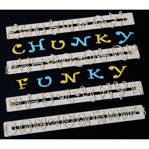 FMM Chunky Funky Alphabet Letter & Number cutter set
