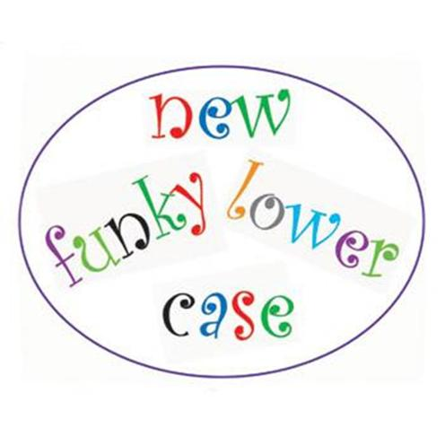 FMM Funky Lowercase Alphabet Tappit set
