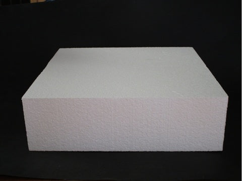 Square Foam Cake Dummy 25cm (10 inch) - 3 inch high