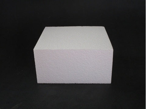 Square Foam Cake Dummy 15cm (6 inch) - 3 inch high