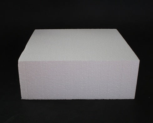 Square Foam Cake Dummy 20cm (8 inch) - 3 inch high