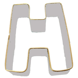 Letter H Cookie Cutter 7.5cm