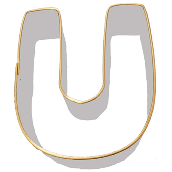 Letter U Cookie Cutter 7.5cm