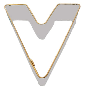 Letter V Cookie Cutter 7.5cm