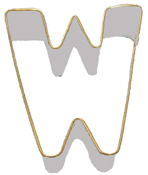 Letter W Cookie Cutter 7.5cm
