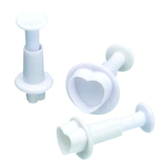 Heart Fondant Plunger Cutter Set of 3