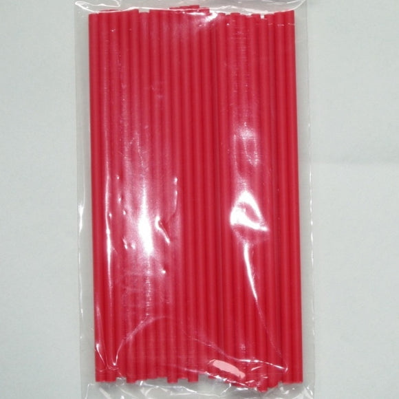 Red Lollipop Sticks 15cm (pack 25)