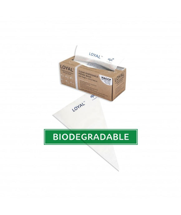 Loyal Clear Biodegradable Disposable 30cm / 12 inch Piping Bags (Pack of 100)