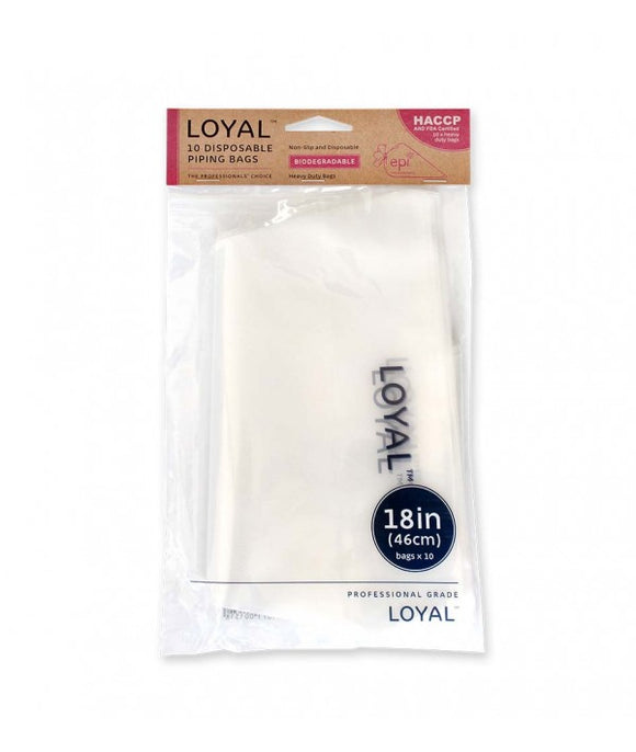 Loyal Clear Biodegradable Disposable Piping Bags 46cm / 18 inch - 10 pack