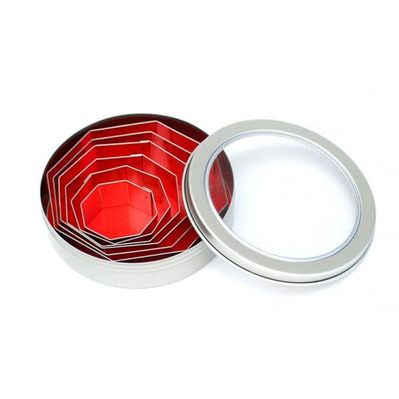 Loyal Octagon Biscuit / Fondant Cutter 6pce Set