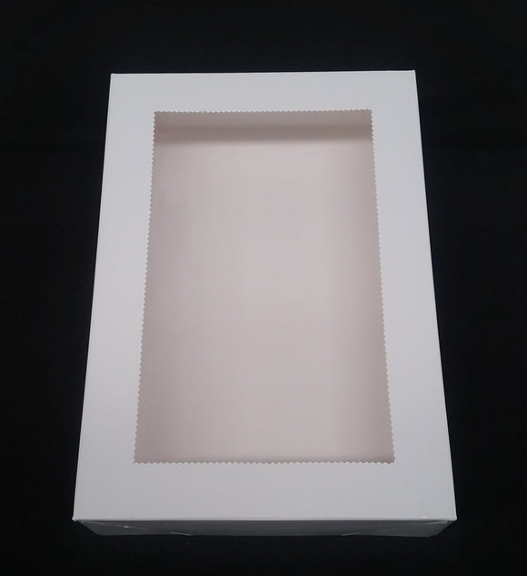Biscuit Box Rectangle 25x17cm (10x7x2 inch) - 4 pack