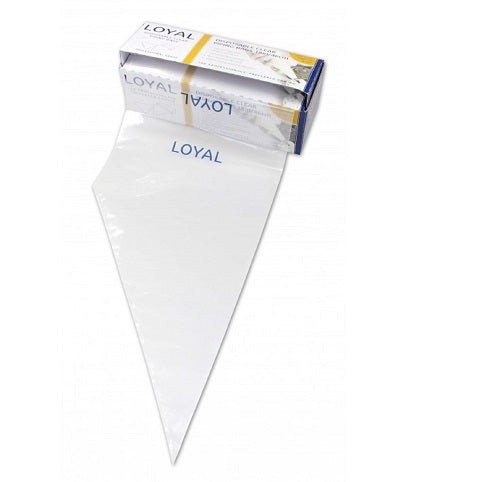 Loyal Clear Disposable Piping Bags 38cm / 15 inch - 100 pack