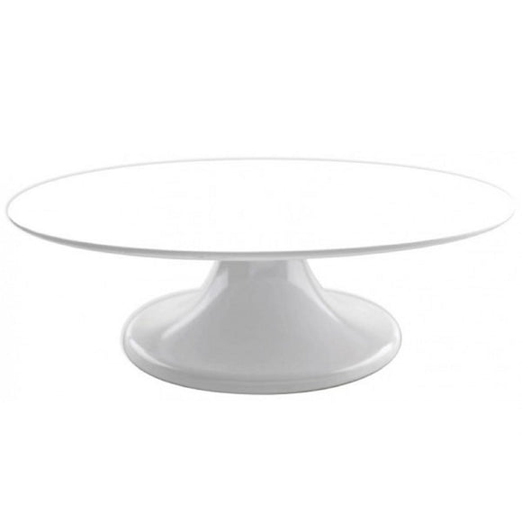 Loyal White Malamine Cake Stand / Turntable 32cm