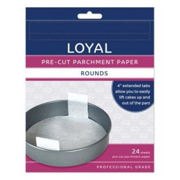 Loyal parchment baking paper - 24 pack - 6, 8, 10, 12 inch