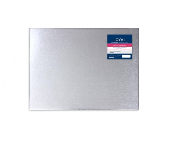 Silver Rectangle Cake Board 35 x 45cm (14x18 inch)