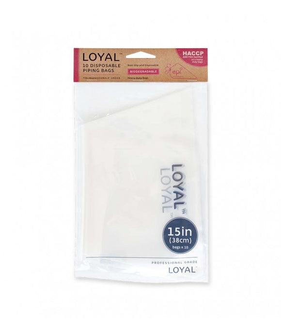 Loyal Clear Biodegradable Disposable Piping Bags 38cm / 15 inch - 10 pack