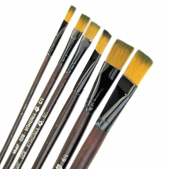 Square Paint Brush Set of 6