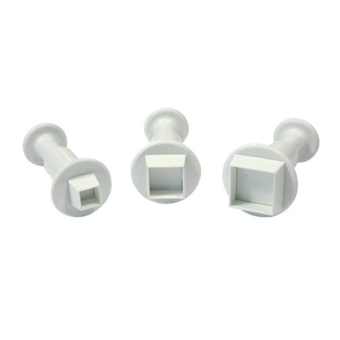 Square Fondant Plunger Cutter set of 3