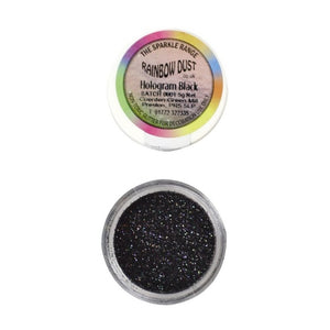 Rainbow Dust Hologram Black Sparkle Glitter